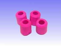 Anti Skid Rubbers - HOT PINK